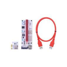 Райзер PCI Express 1x на 16x, кабель USB 3.0, живлення SATA