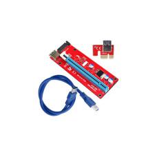 Райзер PCI Express 1x на 16x, USB 3.0 с живлення SATA