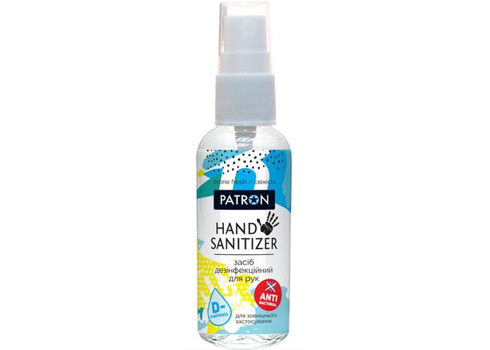 Саниітайзер для рук з антибактеріальною дією PATRON (50мл) Ozon Fresh