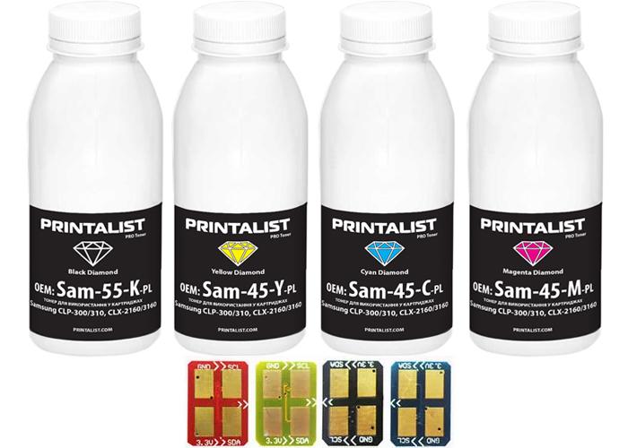 Набір для заправки Samsung CLP-300, CLX-2160, CLX-3160, CLX-3160 (Printalist)