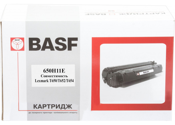 Картридж BASF аналог Lexmark T650H11E для T650, T652, T654, T656 (25k)