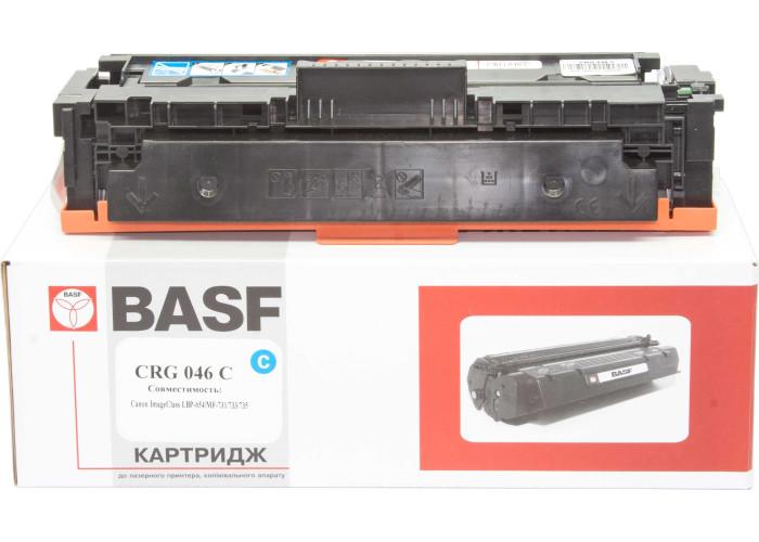 Картридж BASF аналог Canon 046C (LBP650, LBP653, LBP654, MF730, MF731, MF732, MF733, MF734, MF735) Cyan
