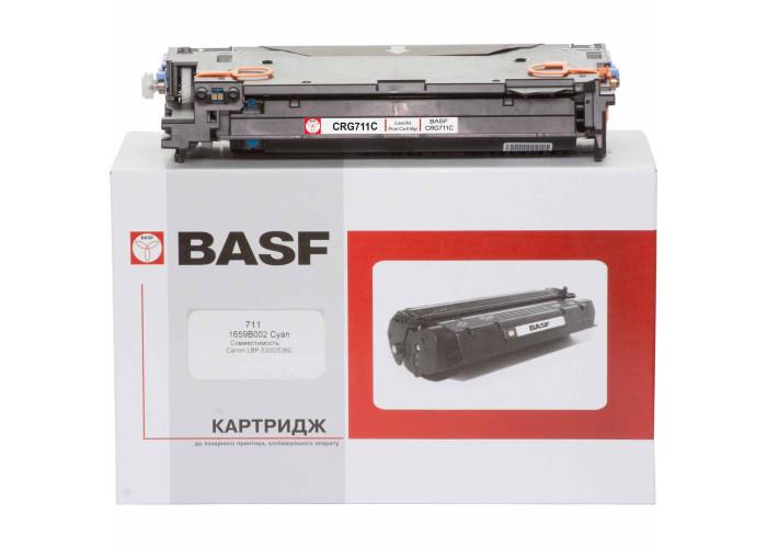 Картридж BASF аналог Canon 711 (LBP-5300, LBP-5360, MF8450, MF9130, MF9150, MF9220, MF9280) Cyan
