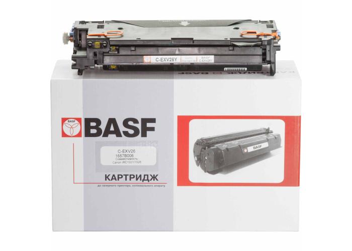 Туба з тонером BASF аналог Canon C-EXV26Y (imageRUNNER C1021i, C1021iF, C1028i) Yellow