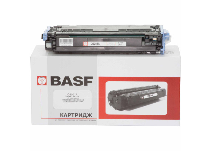 Картридж BASF аналог HP 124А, Q6001A (CLJ 1600, 2600, 2605, CM1015, CM1017 MFP) Cyan