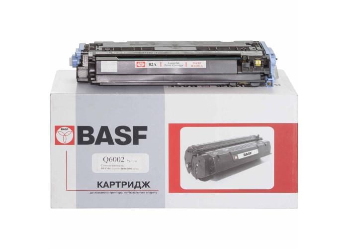 Картридж BASF аналог HP 124А, Q6002A (CLJ 1600, 2600, 2605, CM1015, CM1017 MFP) Yellow