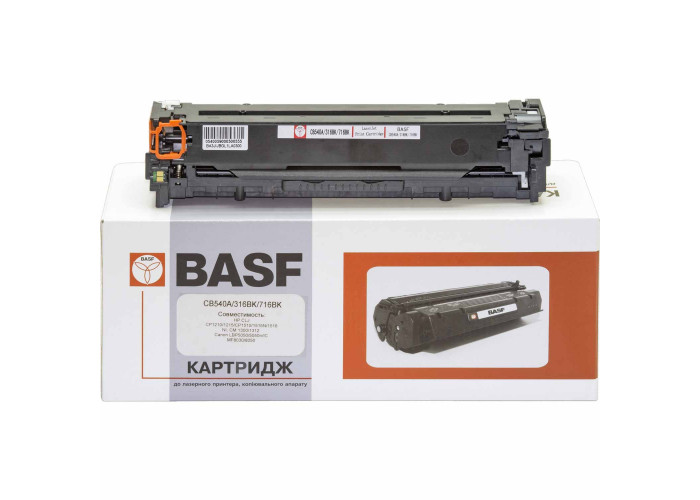 Картридж BASF аналог HP 125А, CB540A (CP1210, CP1215, CP1510, CP1515, CP1518, CM1312) Black