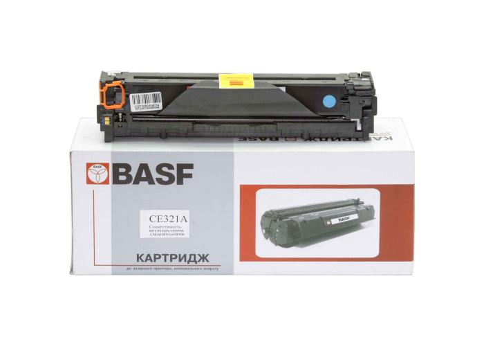 Картридж BASF для CLJ CP1525, CM1415 аналог HP 128А, CE321A Cyan