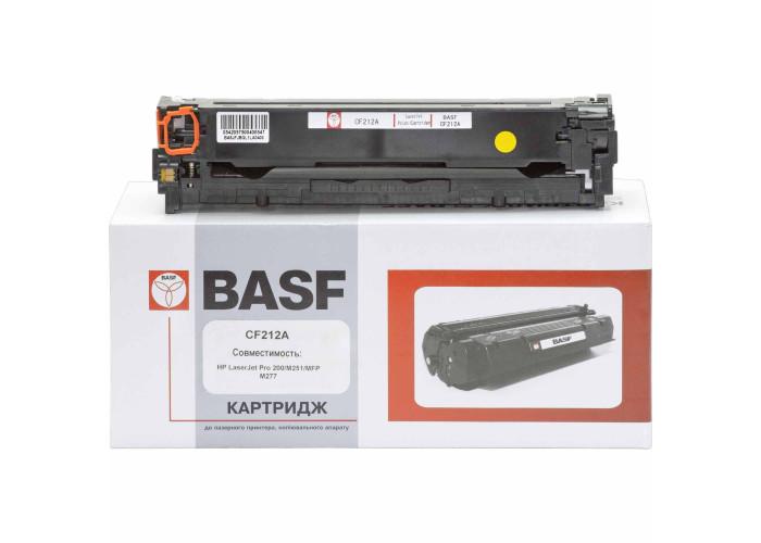 Картридж BASF аналог HP 131А, CF212A (CLJ Pro 200 M251, M276) Yellow