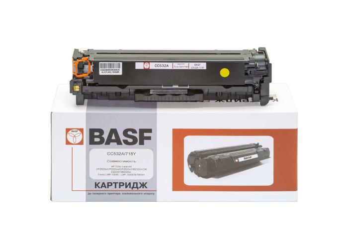 Картридж BASF аналог HP 304A CC532A, Canon 718 Yellow (CP2025, CM2320, LBP-5280, LBP-7200, LBP-7600, MF8330)