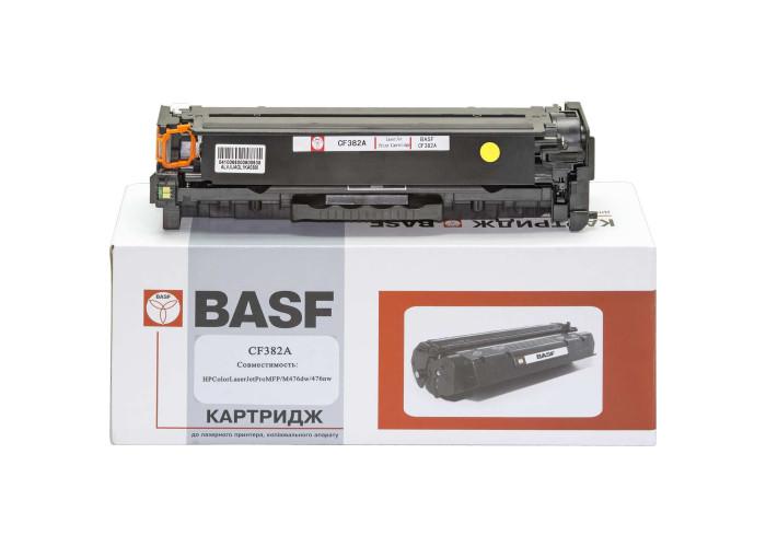 Картридж BASF аналог HP 312A, CF382A (Color LaserJet Pro M476 MFP) Yellow