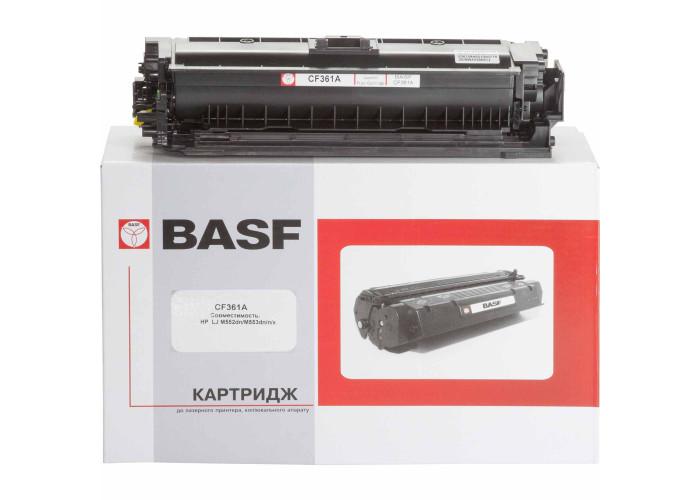 Картридж BASF аналог HP 508A, CF361A (Enterprise M552, M553, M577) Cyan
