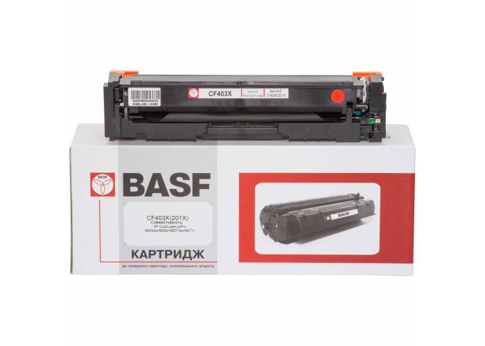 Картридж BASF аналог HP 201X, CF403X (CLJ Pro M252, M274, M277) Magenta