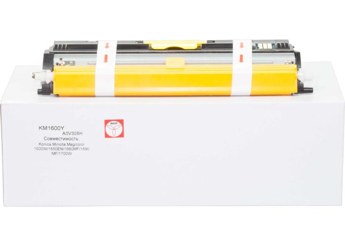 Картридж BASF аналог Konica Minolta A0V305H Yellow (Magicolor 1600W, 1650EN, MC1680MF, MC1690MF, MC1700)