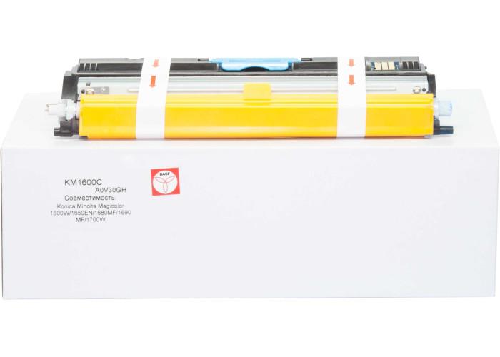 Картридж BASF аналог Konica Minolta A0V30GH Cyan (Magicolor 1600W, 1650EN, MC1680, MC1690)