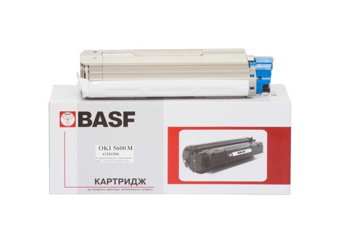 Картридж BASF аналог OKI 43381906 (C5600, C5700) Magenta