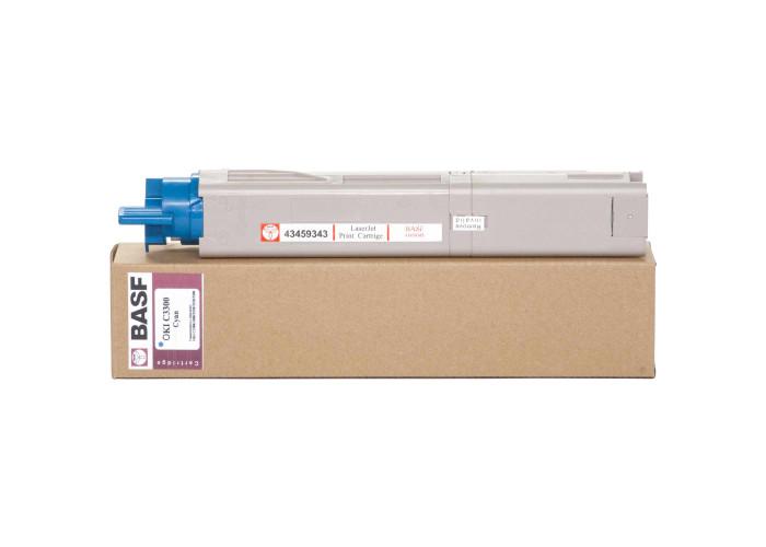Картридж BASF аналог OKI 43459343 (C3300, C3400, C3450, C3600) Cyan