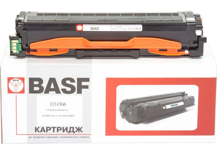 Картридж BASF аналог Samsung CLT-C504S (CLP-415, CLX-4195 MFP) Cyan