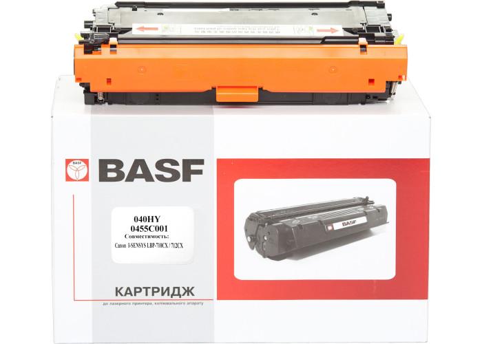 Картридж BASF аналог Canon 040H (LBP710Cx, LBP712Cdn) Yellow