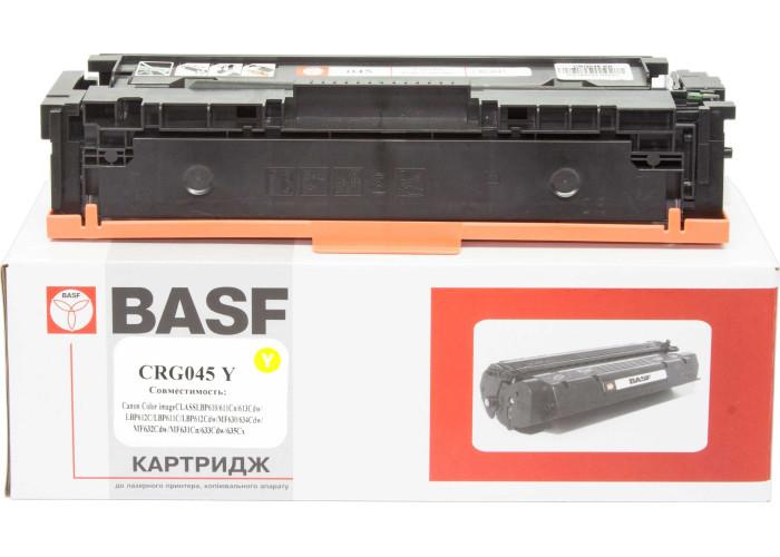 Картридж BASF аналог Canon 045H (LBP610, LBP611, LBP612, LBP613, MF630, MF632, MF634) Yellow