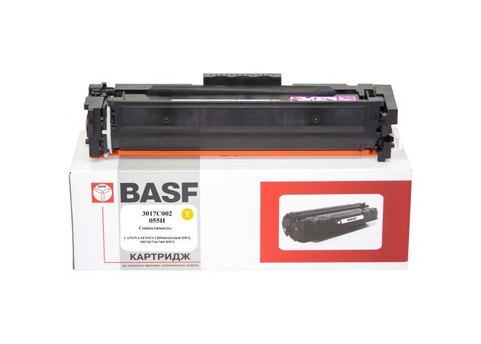 Картридж BASF аналог Canon 055H Yellow (LBP660C, LBP662, LBP663, LBP664, MF740C, MF742, MF744, MF746) БЕЗ ЧІПА