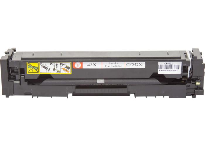 Картридж BASF аналог HP 203X, CF542Х (Color Pro M254, M280, M281) Yellow