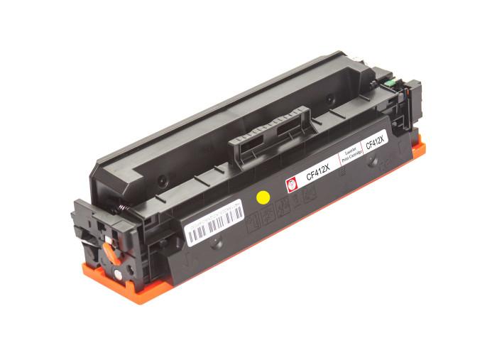 Картридж BASF аналог HP 410X, CF412X (Pro M452, M477 MFP) Yellow
