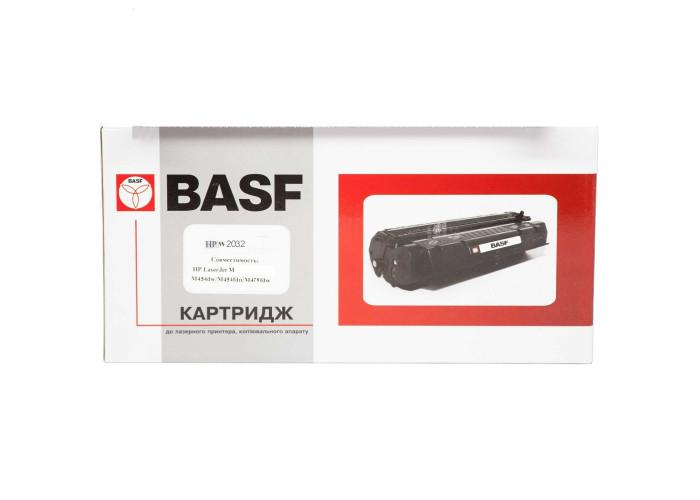Картридж BASF аналог HP 415X, W2032X (CLJ Pro M454, M479 MFP) Yellow БЕЗ ЧІПА