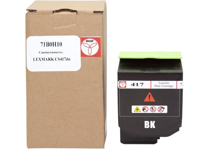Картридж BASF аналог Lexmark 71B0H10 (CS417dn, CS517de, CX417de, CX517de) Black