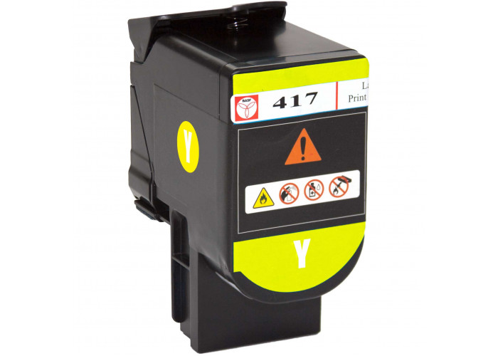Картридж BASF аналог Lexmark 71B0H40 (CS417dn, CS517de, CX417de, CX517de) Yellow