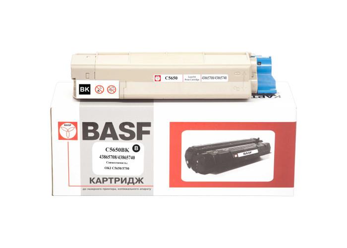 Картридж BASF аналог OKI 43865740 (C5650, C5750) Black