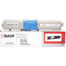 Картридж BASF аналог OKI 44469754 (C510, C511, C530, C531, MC561, MC562) Cyan