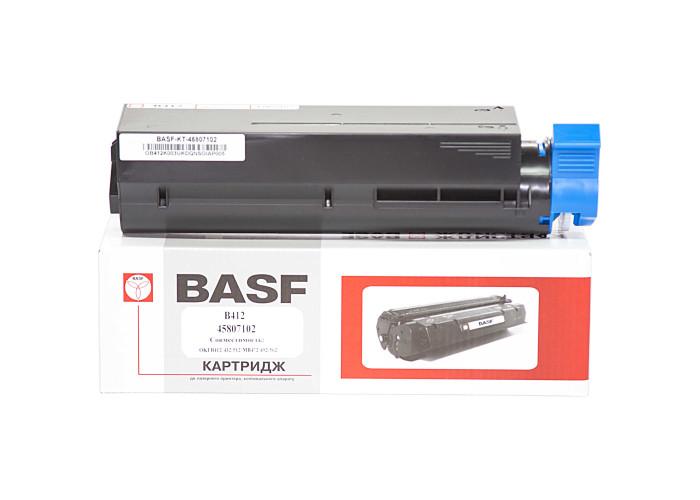 Картридж BASF аналог OKI 45807102 (B412, B432, B512, MB472, MB492, MB562) 3k