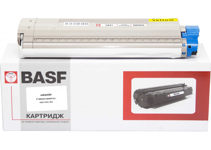Картридж BASF аналог OKI 44844505 Yellow (Okidata C831, C841)