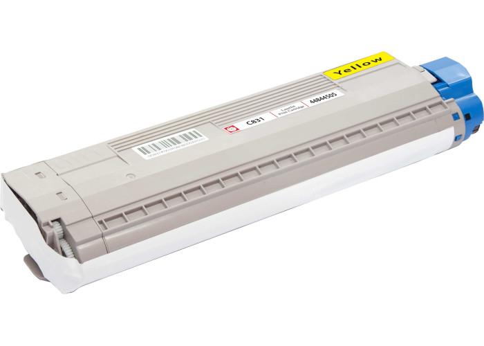 Картридж BASF для Okidata C831, C841 аналог OKI 44844505 Yellow