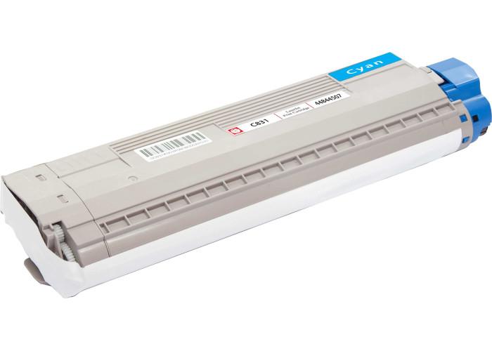 Картридж BASF аналог OKI 44844507 (Okidata C831, C841) Cyan