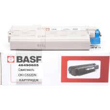 Картридж BASF аналог OKI 46490605 Yellow (Okidata C532, C542, MC563, MC573)