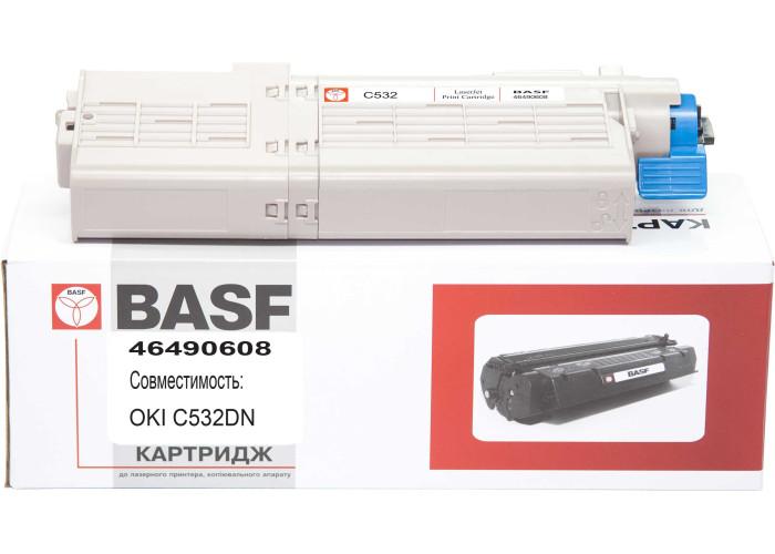 Картридж BASF аналог OKI 46490608 (Okidata C532, C542, MC563, MC573) Black