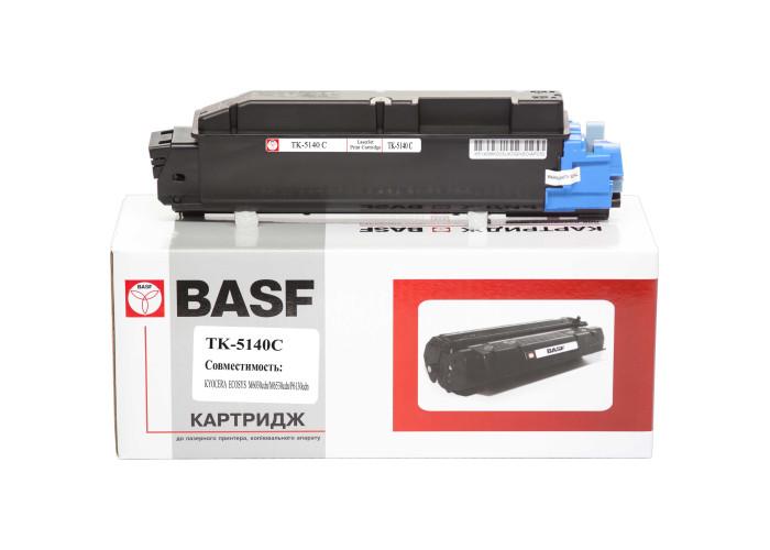 Туба з тонером BASF аналог Kyocera TK-5140C (1T02NRCNL0) Cyan (ECOSYS P6130, M6030, M6530)