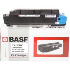 Туба з тонером BASF аналог Kyocera TK-5280C, 1T02TWCNL0 (ECOSYS M6235, M6635) Cyan