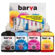 Комплект чернил BARVA для Canon MG2140, MP230, MP250, MP280 (PGI-520, CLI-521) CPGI520-090-MP, 4x90г