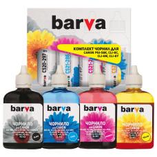 Комплект чернил BARVA для Canon iP3300, iX4000, iX5000, MP510, MX700 (PGI-5BK, CLI-8C/M/Y) CPGI5-4-090-MP, 4x90г