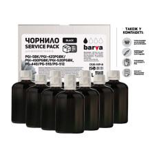 Чернила Barva для Canon E204, E304, E3140, iP2840, MG2140, MG2240, MG3140, MG3240, MX375, MX525, TS3140 (C520-1SP-B) Black 10x100мл