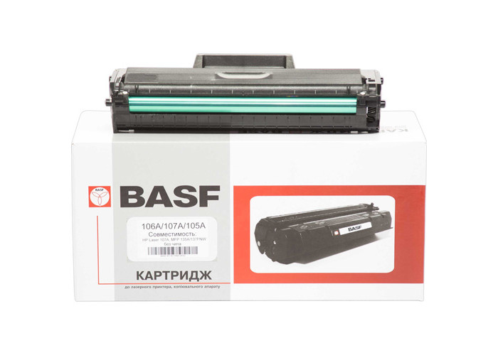 Картридж BASF аналог W1106A для HP Laser 107a, 135a, 137w (W1106A-WOC) без чіпа