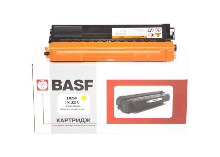 Картридж BASF аналог Brother TN-321Y (HL-L8250, L8350, DCP-L8400, L8450, MFC-L8600, L8650, L8850) Yellow