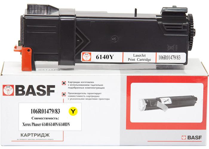 Картридж BASF для Xerox Phaser 6140 (106R01483/106R01479) Yellow