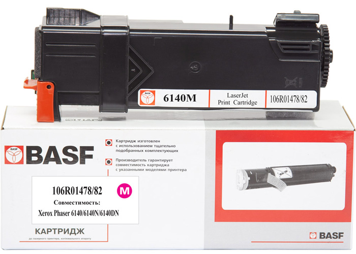 Картридж BASF для Xerox Phaser 6140 (106R01482/106R01478) Magenta