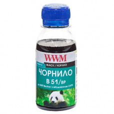 Чорнило WWM для Brother DCP-T300, DCP-T500W, DCP-T700W (B51/BP-2) 100г Pigmented Black