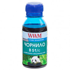 Чорнило WWM для Brother DCP-T300, DCP-T500W, DCP-T700W (B51/C-2) 100г Cyan