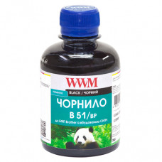 Чорнило WWM для Brother DCP-T300, DCP-T500W, DCP-T700W (B51/BP) 200г Pigmented Black